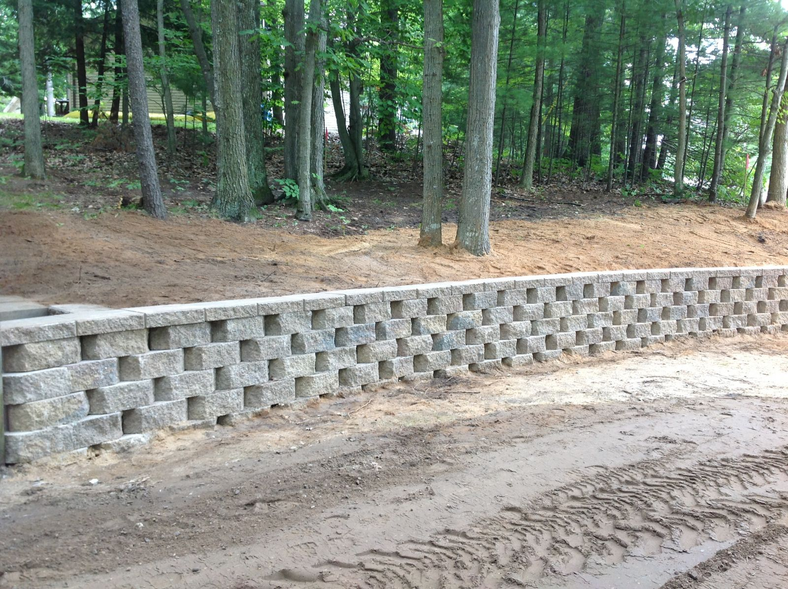 Retaining Wall in woods